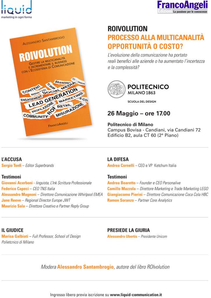 Locandina Roivolution Processo alla multicanalità Alessandro Santambrogio